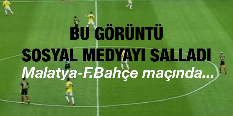 Yeni Malatya Stadı'nın orta yuvarlak çizgisi sosyal medyayı salladı