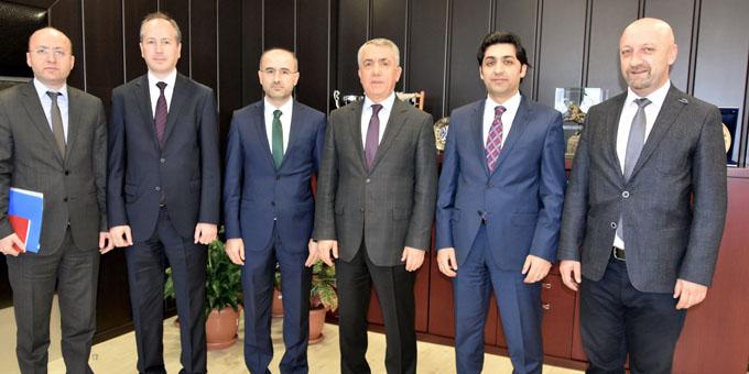 Yurt Dışı Türkler ve Akraba Toplulukları Başkan Yardımcısı Rektör Bilgiç'i Ziyaret Etti
