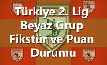 Samsunspor Puan Durumu - Türkiye 2. Lig Beyaz Grup Fikstür ve Puan Durumu