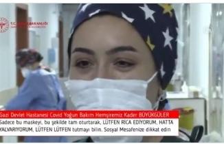Kader hemşire: Nefes alıyorsanız Şükredin, Başka insanların nefesine sebep olmayın!