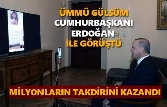 Ümmü Gülsüm Cumhurbaşkanı Recep Tayyip Erdoğan ile görüştü