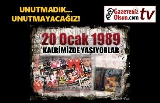 20 Ocak 1989 Samsunspor Kazası'nın 31. sene-i devriyesi Futbol Şehitlerimizi Rahmetle Anıyoruz