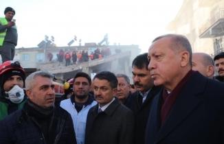 Cumhurbaşkanı Erdoğan Deprem Bölgesi Elazığ'da açıklamalarda bulundu