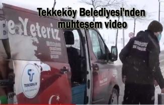 Tekkeköy Belediyesi'nden kar temalı video